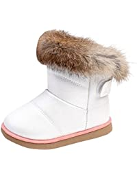 Winter Baby Girl Cute Waterproof Warm Martin Boot Leather Shoes Outwear