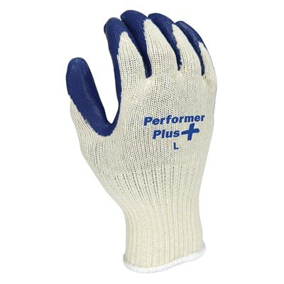 String Gloves Knit Plus - NS Performer Plus Premium Rubber Coated String Knit Work Gloves, X-Large (10 Pack)
