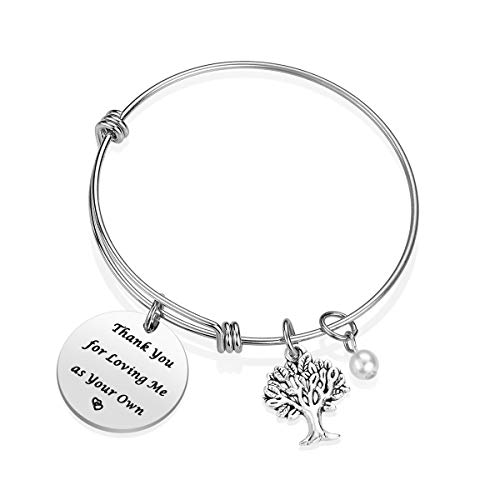 IJuqi Step Mom Bracelet Gift For Stepmom From Daughter Son Thank You Loving Me
