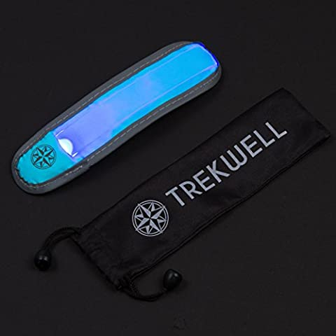 Trekwell LED Sports Safety Flashing Reflective Armband, High Visibility Gear (Ultra Blue) (Ultra Blue)