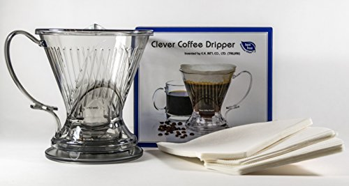 Clover Coffee - Clever Coffee Maker With Bonus Filters Included - (Cloud)