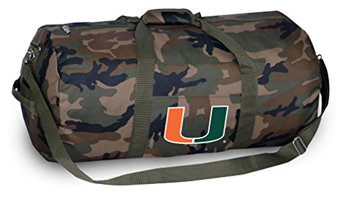 Miami Hurricanes CAMO Duffle Bag University of Miami Duffel Suitcase - Miami Hurricanes Camo