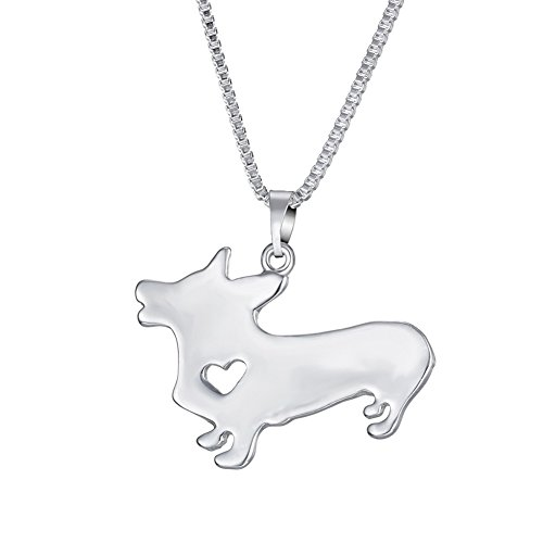 WeiVan Welsh Corgi Pembroke Dog Pendant Necklace