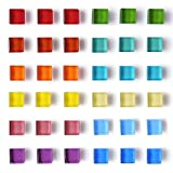 36 Pack Fridge Magnets for Whiteboard Magnets Mini Refrigerator Magnets Strong Office Magnets Colorful Cute Fun Decoration (Glass)