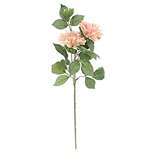 qiguch66 Artificial Flower for Decoration, 1Pc Romantic Artificial Dahlia Flower Fake Plant Garden Wedding Party Decor - Light Pink 115