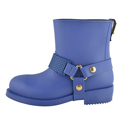 09bcc79c99ea74 Just Cavalli Women s Blue Rubber Rain Boots Shoes US 9 IT 39 lovely ...