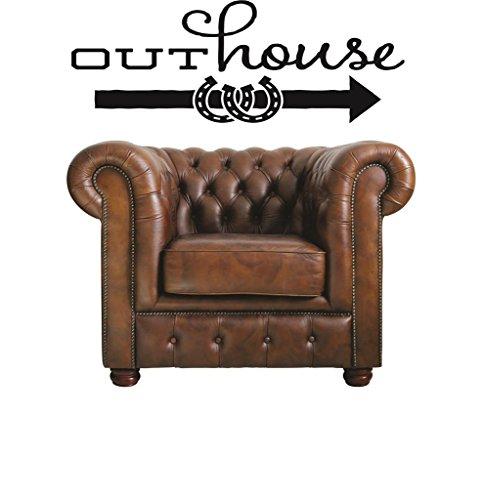 Design With Vinyl RAD V 344 2 Outhouse Vintage Sign Weste...