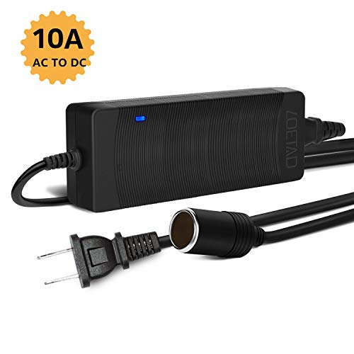 LOETAD AC to DC Converter 10A 120W 100-240V to 12V Car Cigarette Lighter Socket AC/DC Power Supply Charging Adapter]()