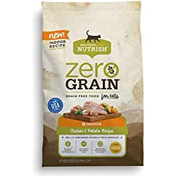 Rachael Ray Nutrish Zero Grain Natural Dry Cat Food, Grain Free, Chicken & Potato Recipe, 3 Lbs