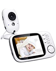 Govee Video Baby Monitor 2.4GHz Wireless Long Range with Digital Camera, 3.2 inch Screen, Infrared Night Vision, Two Way Audio, VOX and Temperature Monitoring, 8 Lullabies and High Capacity Battery