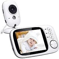 Vigilabebés Inalambrico, Govee Baby Monitor Inteligente con LCD 3.2in y Cámara con Visión Nocturna Intercomunicador de Visión, Babyphone, Video LCD, Monitoreo de Temperatura para Niños y Padres