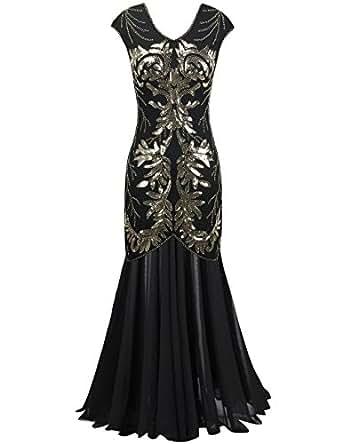 Amazon.com: PrettyGuide Women Evening Dress 1920s Ball