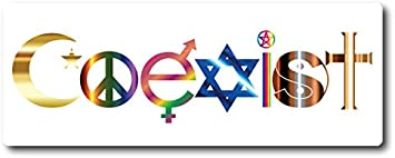 Coexist Dog Bone Car Magnet 2x7 Dog Bone Auto Truck Decal Magnet Magnet Me Up