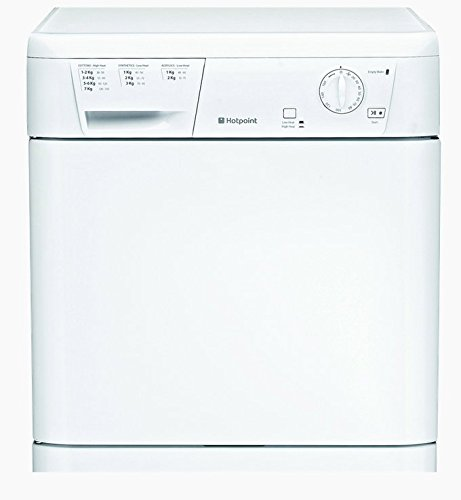 Hotpoint FETC 70C P Freestanding Front-Load Tumble Dryer - Class B - White - Load Capacity: 7 kg - Condensation Drying System - Rotating Control Knobs - Left