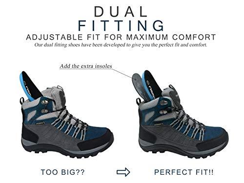 Riemot Sport Gris Escalade Marche Femme bleu Légères Outdoor Chaussure Montantes De Randonnée Bottes Montagne Impermeable Trekking Hiver qZAPrqw