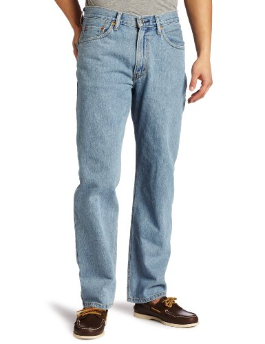 Levi's Men's 550 Relaxed Fit Jean, Light Stonewash, 36x29 (Fit Denim Relaxed)