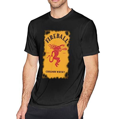 Anquyiceng Fireball-Cinnamon-Whisky-Logo Mens T-Shirt Black 3XL