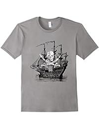Pirate Tee Shirt With Pirate Ship