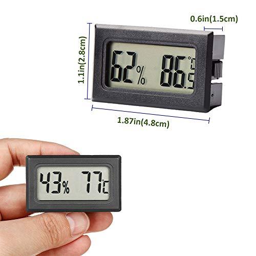 Bkinsety 5-Pack Mini Termómetro Higrómetro Digital Interior de Temperatura y Humedad, Negro