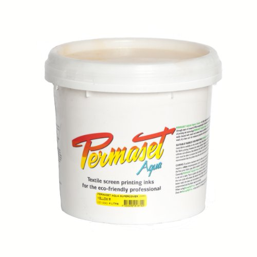 Permaset Aqua Supercover 4 Litre Fabric Printing Ink - Yellow by OfficeMarket