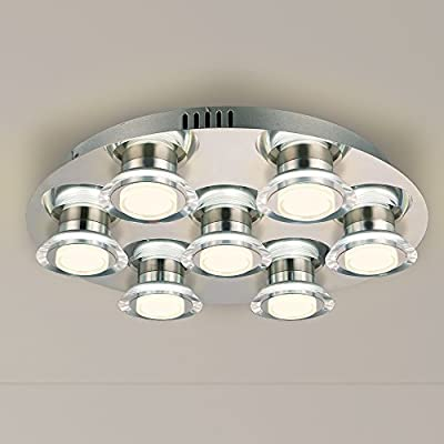 NATSEN LED Ceiling Lights 7-Light Modern Ceiling Light Fixture 3000k Warm White Flush Mount Ceiling Light for Bedroom Dining Room