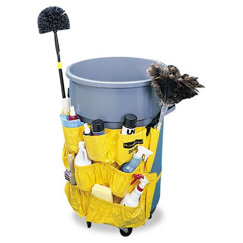 Rubbermaid Commercial Brute Caddy Bag, Yellow - one caddy bag with adjustable buckles and bottom strap.