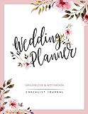 Wedding Planner: Watercolor Flower My Wedding Organizer Budget Savvy Marriage Event Journal Checklist Calendar Notebook (Wedding Planner Journal) (Volume 2)