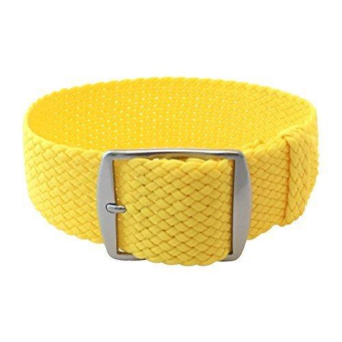 Wrist And Style Perlon Watch Strap - Yellow   20mm