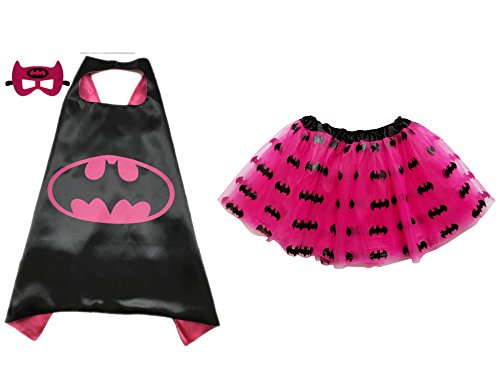 So Sydney Superhero TUTU, CAPE & MASK Adult Teen Plus Complete Halloween Costume (L (Adult Size), (Adult Superhero)