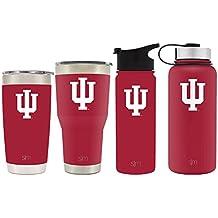 Simple Modern 18oz Summit Water Bottle - Indiana Hoosiers Vacuum Insulated 18/8 Stainless Steel Travel Mug - Indiana