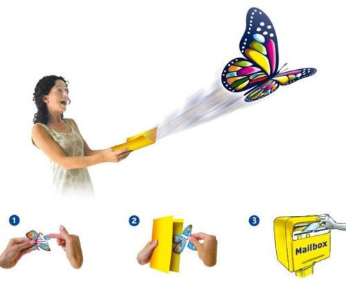 Marketworldcup - GREETING CARD MAGIC! Exclusive Flying Butterfly works with ALL GREETING CARDS