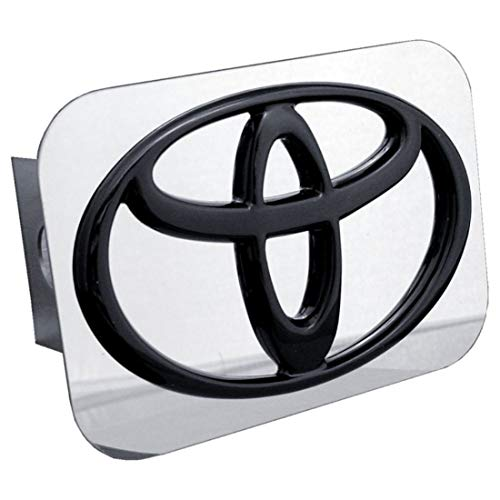 (Toyota Black Logo Tow Hitch Cover)