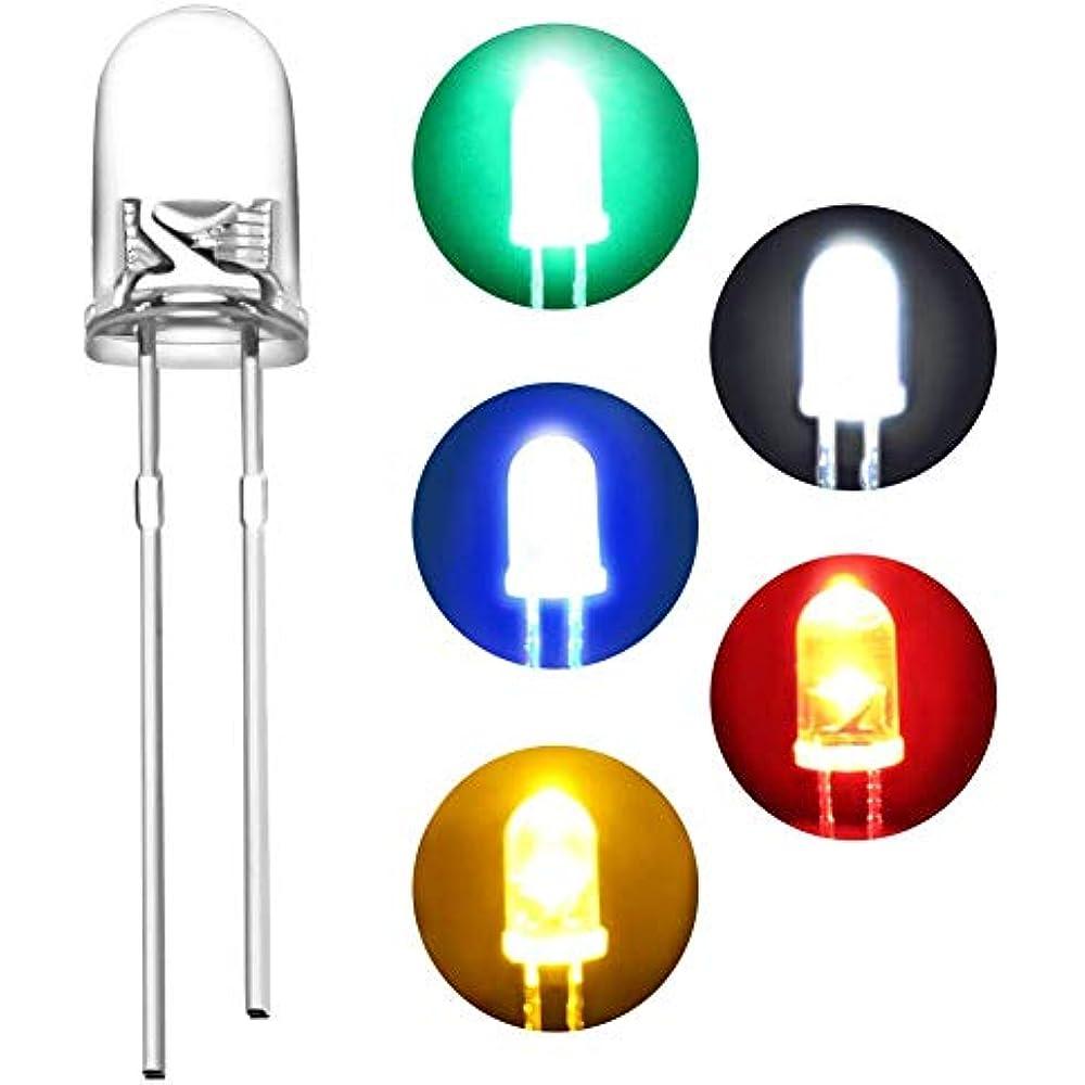 60pcs 5mm White Red Blue Green Yellow Purple LED Light Bulb Emitting Diode Lamp