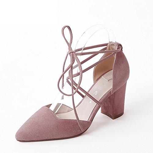 Estilo Coreano Tacones/Tacones/Zapatos Finos De Tacones Chunky/Zapatos  Femeninos De La