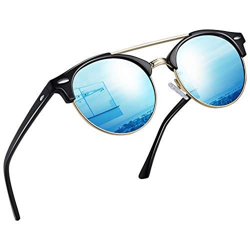Joopin Vintage Round Sunglasses for Women Retro Brand Polarized Sun Glasses E3447