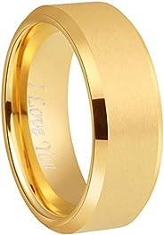 Crownal 4mm 6mm 8mm Black/Silver/Gunmetal/Gold Tungsten Wedding Couple Bands Rings Men Women Matte Brushed Fin