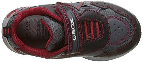 Geox J Shuttle B, Zapatillas para Niños Negro (Black/red)