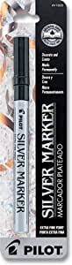 Pilot Silver Metallic Permanent Paint Marker, Extra Fine Point, Single Pen (41600)