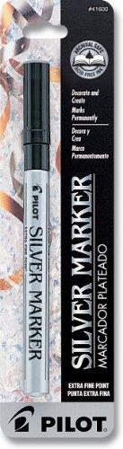 Pilot Silver Metallic Permanent Paint Marker, Extra Fine Point, Single Pen (41600)