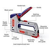 WORKPRO Heavy-Duty Staple Gun Kit, 4-in-1, Manual