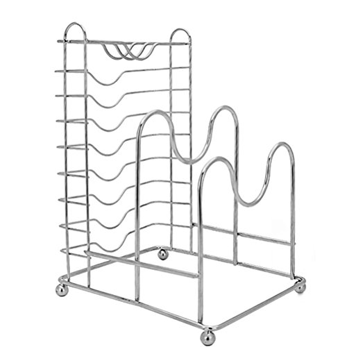 BESTONZON 3 In 1 Household Stainless Steel Pantry Rack Dryin