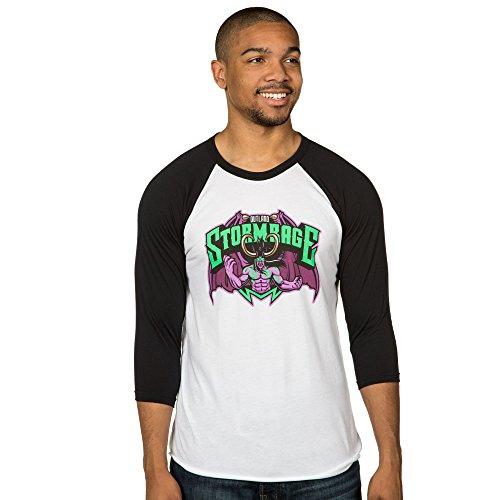 World of Warcraft Men's Outland Stormrage Raglan Shirt (White/Black, 2X-Large)