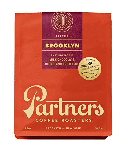 Partners Coffee/Toby's Estate, Brooklyn Blend 12 oz bag, Whole Bean Coffee (Coffee Estate Blend)