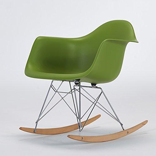 YZQAH Silla Balcón Balancín Silla reclinable Silla Informal de Moda Silla Trasera Snuggle Silla Perezosa (Color : Green)