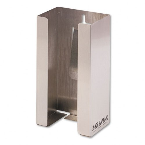 (San Jamar G0801 Wall Mounting Glove Dispenser, 1 Box Capacity, Stainless Steel)