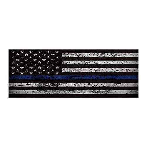 r, Rear Windshield Blue Thin Line American Flag Graphic Decal for Car Truck SUV 16874cm ()