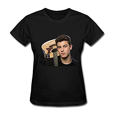 Lady Pop Star Shawn Mendes Tour Fan Logo T Shirt For Women