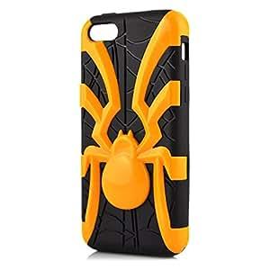 Bondwarehouse Dual Capa Híbrido Diseño Araña Desmontable Cubierta Combo Caso Duro Robusto Carcasa Híbrida Protectora Funda Protección Integral para iPhone 5C