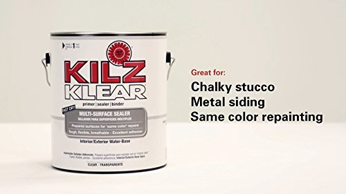 Kilz l220101 klear multi surface stain blocking interior exterior latex primer sealer clear 1 for Kilz kilz 2 interior exterior latex primer