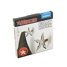 Gift Republic Spinning Hat Ninja Coat Hook, Silver